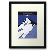 No492 My Everest minimal movie poster Framed Print