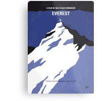 No492 My Everest minimal movie poster Metal Print