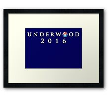 House of Cards - Underwood 2016 Framed Print