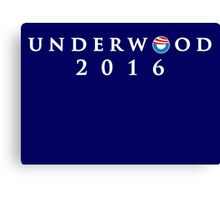 House of Cards - Underwood 2016 Canvas Print