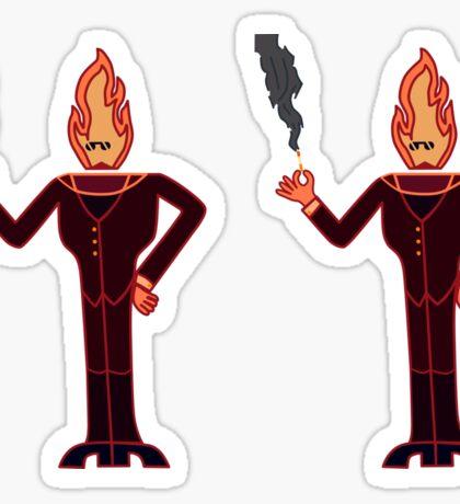Fire Dude Sticker