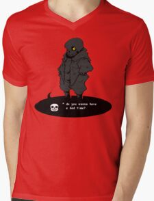 Sans Mens V-Neck T-Shirt
