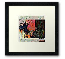 Vision on the hill paint tin Framed Print