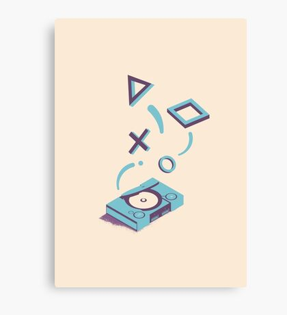 ElectroVideo Playstation (Blue) Canvas Print