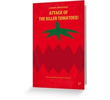 No499 My Attack of the Killer Tomatoes minimal movie poster Greeting Card