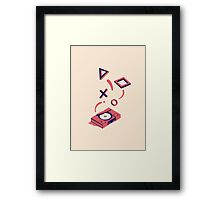 ElectroVideo Playstation (Red) Framed Print