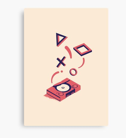 ElectroVideo Playstation (Red) Canvas Print