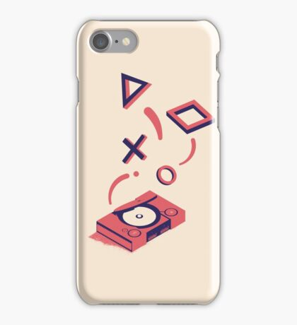 ElectroVideo Playstation (Red) iPhone Case/Skin