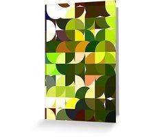 Cactus Garden Abstract Circles 1 Greeting Card