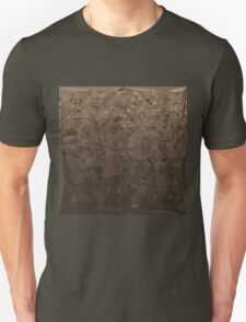 Antique Brass Camo Abstract Low Polygon Background Unisex T-Shirt
