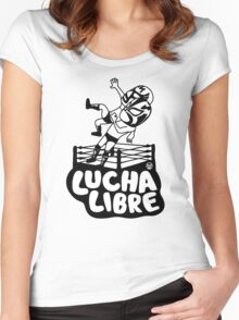 mexican wrestling lucha libre16 Women's Fitted Scoop T-Shirt