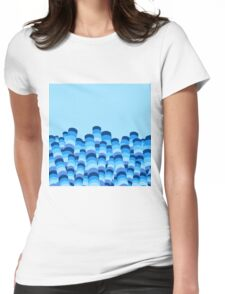 Waves in Abstract Womens Fitted T-Shirt