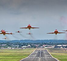 Red Arrows Take Off HDR - Farnborough 2014 by Colin J Williams Photography
