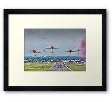 Red Arrows Take Off HDR - Farnborough 2014 Framed Print