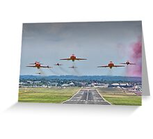 Red Arrows Take Off HDR - Farnborough 2014 Greeting Card