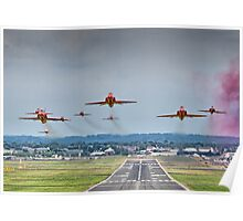 Red Arrows Take Off HDR - Farnborough 2014 Poster