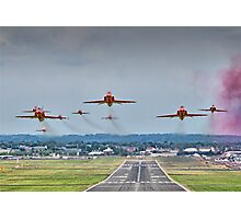 Red Arrows Take Off HDR - Farnborough 2014 Photographic Print