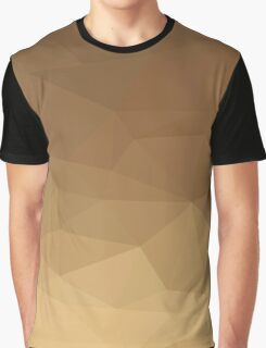 Dark Tangerine Abstract Low Polygon Background Graphic T-Shirt