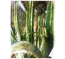 Cactus Garden Sketchy Poster