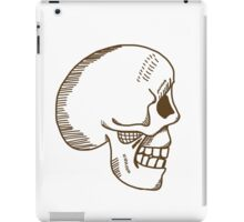 Hamlet skull in brown iPad Case/Skin