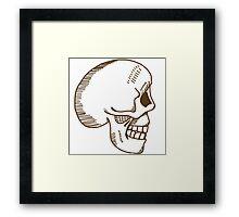 Hamlet skull in brown Framed Print