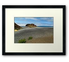 Black Sand Beach On The Lost Coast Framed Print