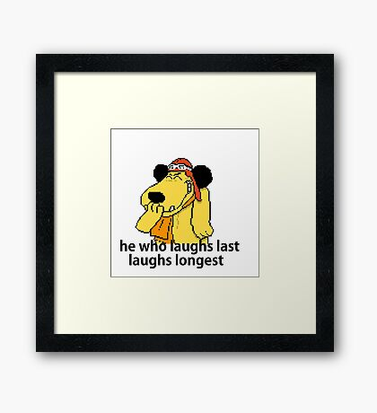 Inspirational quote: laughing laugh Framed Print