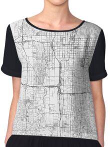 Salt Lake City Map Line Chiffon Top