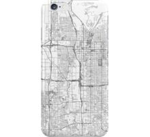 Salt Lake City Map Line iPhone Case/Skin