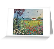The House by Summer Meadow Greeting Card