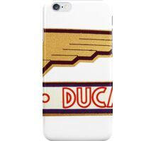 DUCATI RETRO VINTAGE LOGO iPhone Case/Skin