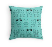 Cat Modes Throw Pillow