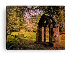 Manor house landscape. Canvas Print