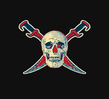 Color Pirate Skull with Swords Unisex T-Shirt