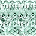Owl Feathers in Mint by ThistleandFox