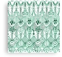Owl Feathers in Mint Canvas Print
