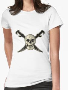 Pirate Skull with Swords Womens Fitted T-Shirt