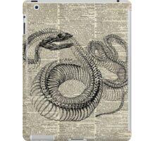 Boa Snake Skeleton,Ink and Pen Anatomy Chart,Vintage Dictionary Art iPad Case/Skin