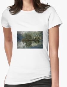 forest lake Womens Fitted T-Shirt