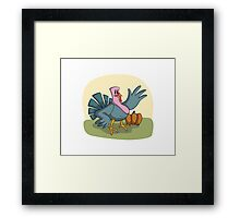 Waving Turkey Framed Print