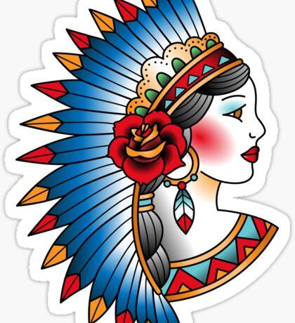Native american girl Sticker