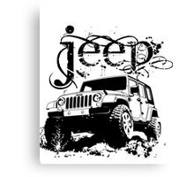 Jeep Shirt Canvas Print
