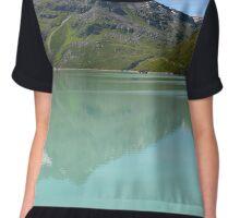 Silvrettasee Reflection  Chiffon Top