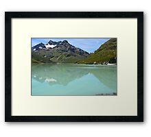 Silvrettasee Reflection  Framed Print