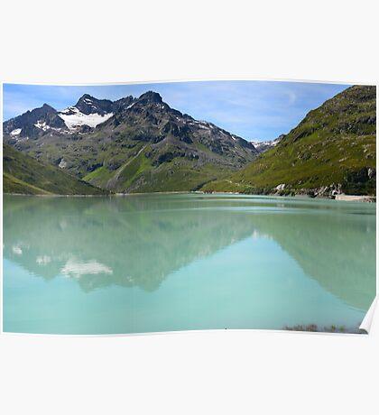 Silvrettasee Reflection  Poster