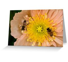 Happy bees Greeting Card