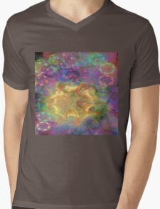Flowerworks (Square Version) - By John Robert Beck Mens V-Neck T-Shirt