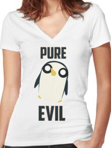 Evil is cute Women's Fitted V-Neck T-Shirt