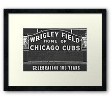 Wrigley Field Sign  Framed Print