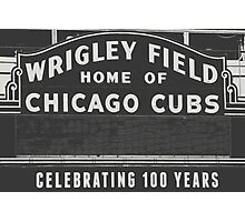 Wrigley Field Sign  Photographic Print